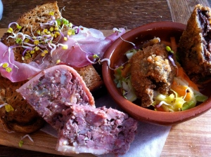 Meat platter to share